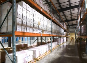 record storage boxes in Baton Rouge warehouse